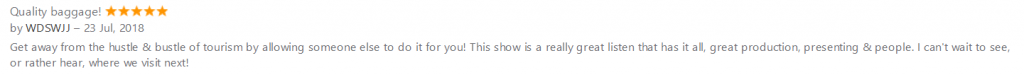 a screen grab of a review from itunes