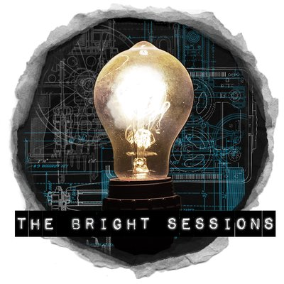An illustration of a light bulb, and underneath the words 'The Bright Sessions'
